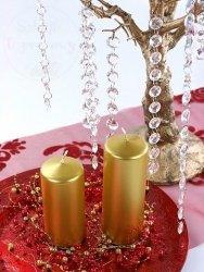 Świeca klubowa złota 15 x 6 cm - 1 szt
