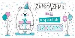 Zaproszenie na wspaniałe urodziny 1 szt
