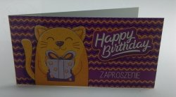 Zaproszenie urodzinowe HAPPY BIRTHDAY