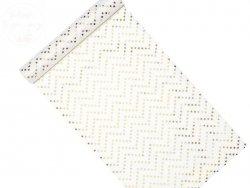 Flizelina  dekoracyjna gwiazki złoa 0,36x9m