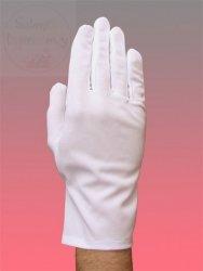 Rękawiczki białe z dzianiny M