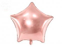 Balon foliowy Gwiazdka różowe złoto  48 cm