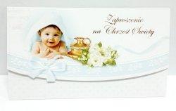 Zaproszeniena Chrzest Święty Chłopczyk - 1szt