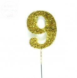 Ozdoba na druciku 9 złota - 1szt