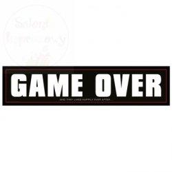 Tablica rejestracyjna ślubna GAME OVER