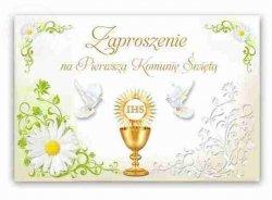 Zaproszenie na I Komunię świętą, komunijne 1szt