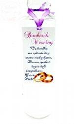 Zawieszka Bimberek weselny z fioletową  tasiemką