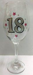 Kieliszek do wina XL BROKAT na 18-stkę