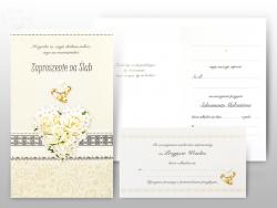 Zaproszenie na Ślub  Serduszko Kwiatowe - 1szt