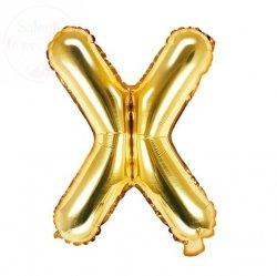 Balon foliowy Litera X 35 cm złoty