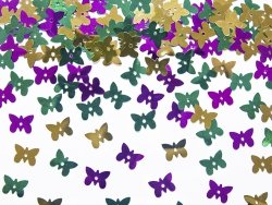 Konfetti metalizowane Motylki   MIX 15 g