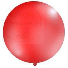 Balon 1m pastelowy czerwony 1szt