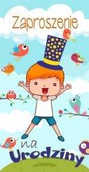 Zaproszenie na urodziny Chłopiec 1szt
