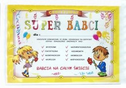 Certyfikat, dyplom dla SUPER  BABCI