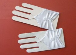 Rękawiczki komunijne na paluszek białe lycra mat