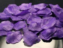 Płatki róż w woreczku fiolet 100 szt PLRD100-014