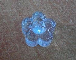 Świecznik Koniczynka szklana  1szt