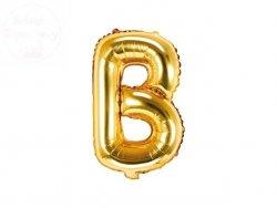 Balon foliowy Litera B 35 cm złoty