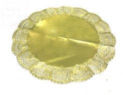Serwetka ażurowa 33 cm GOLD - 4szt