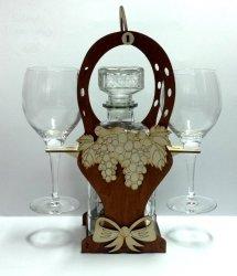 Karafka Kosz + kieliszki do wina