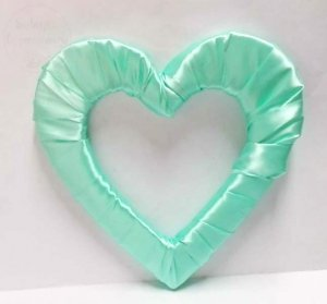Serce styropianowe duże w kolorze miętowym