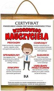 Dyplom Certyfikat wzorowego nauczyciela