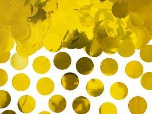 Konfetti metalizowane kółka złote15g