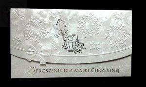 Zaproszenie na Chrzest dla Matki Chrzestnej