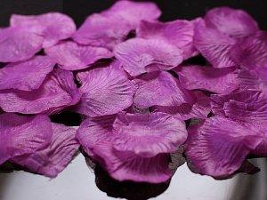 Płatki róz w woreczku śliwkowe 100 szt