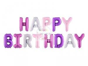Balon foliowy Happy Birthday mix kolor 340x35 cm