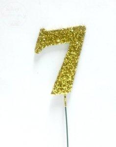 Ozdoba na druciku 7 złota - 1 szt