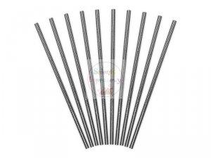 Słomki papierowe  Metaliczne srebrne -10 szt