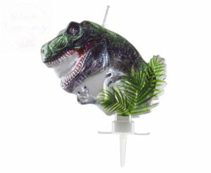 Świeczka do tortu metaliczny Dinozaur