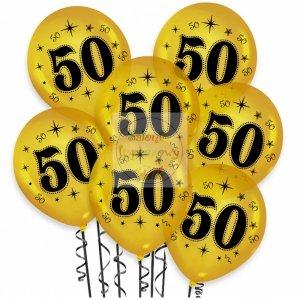 Balony urodzinowe na 50złote metaliczne 1 szt