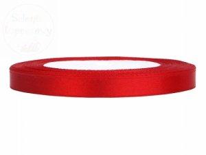 Tasiemka satynowa czerwona 6mm/25m