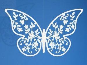 Dekoracja papierowa motyl 8x5cm 10szt