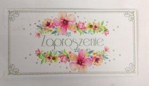 Zaproszenie okolicznościowe z kolorowymi kwiatami