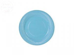 Talerzyki papierowe błękitne średnica 18 cm