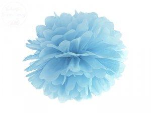 Pompon bibułowy jasnoniebieskiem 35cm 1szt