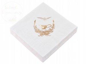 Serwetki 3 warstw. 33x33 białe 20szt chrzest