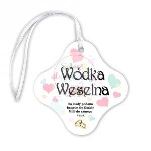 Zawieszki na wódkę weselną SERDUSZKA- 20szt