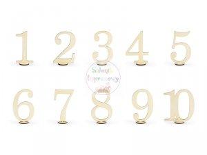 Drewniane numery na stół 10,5 cm - 10szt/op