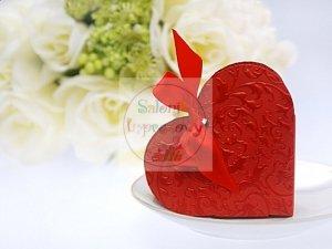 Pudełeczka dla gości serduszko czerwone 10szt