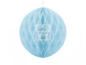 Kula bibułowa jasnobłękitnym  30 cm  - 1szt