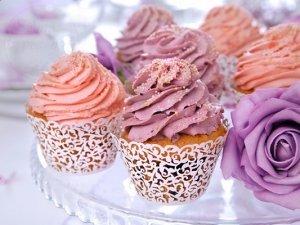 Papilotki na muffinki białe 10 szt