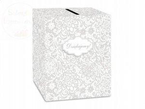 Pudełko na telegramy koperty weselne DZIĘKUJEMY