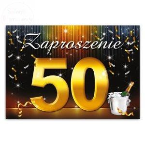 Zaproszenie na 50-te urodziny, urodzinowe 1szt