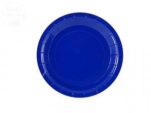 Talerzyki papierowe  Niebieskie   18cm- 6szt