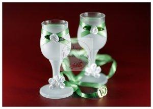 Kileliszki do wódki szronione 2 szt zielone