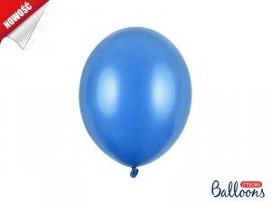 Balony metalik 27 cm Ciemny niebieski 50 szt